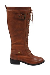 Liliana Vive Lace Up Boot Brown