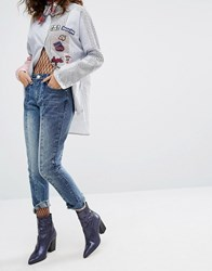 House Of Holland H By Henry Reconstructed Raw Hem Jeans Blue