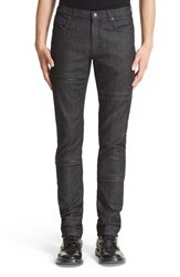 Men's Versace Collection Zip Knee Moto Jeans Black
