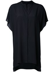 Roberto Collina Short Sleeve Shirt Black