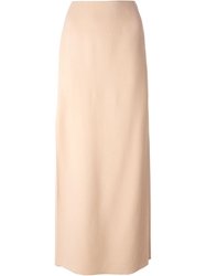 Lanvin High Waist Maxi Skirt Nude And Neutrals