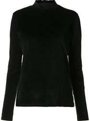 Majestic Filatures Roll Neck Jumper Black