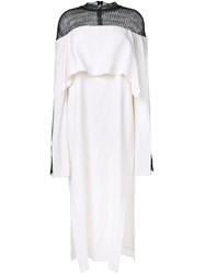 Kitx 'Web Net Layered' Dress White