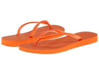 Havaianas Slim Flip Flops Neon Orange Women's Sandals