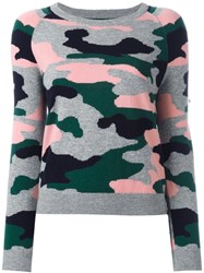 Chinti And Parker Camouflage Intarsia Jumper Green