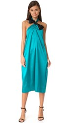 Edit Halter Neck Knot Dress Lagoon