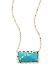 Lana Turquoise And 14K Yellow Gold Necklace Blue