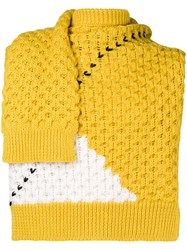 Raf Simons Sweater Inspired Scarf Yellow