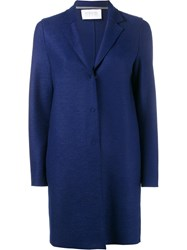 Harris Wharf London Classic Cocoon Coat Blue