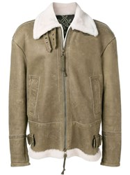 Mr And Mrs Italy Fur Aviator Jacket 60