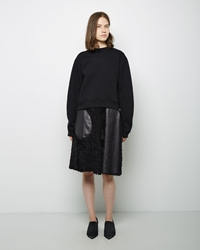 Acne Studios Moment Shearling Skirt Black