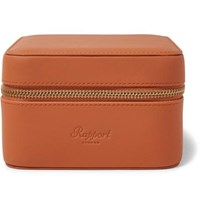 Rapport London Hyde Park Zip Around Leather Watch Box Tan