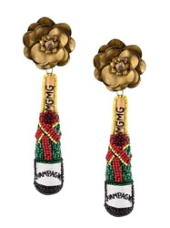 Mignonne Gavigan Beaded Champagne Earrings 60