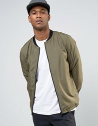 Only And Sons Lightweight Bomber Jacket Kalamata Green