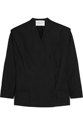 Vionnet Cotton Blend Pique Jacket Black