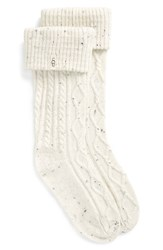 Uggr Women's Ugg 'Shaye' Tall Boot Socks Cream Fabric