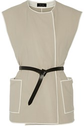 Isabel Marant Magali Belted Cotton Gilet White