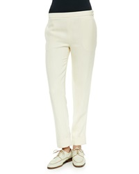 The Row Large Cuff Skinny Pants Light Beige