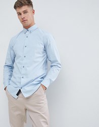 Produkt Smart Shirt In Slim Fit Stretch Chambray Blue
