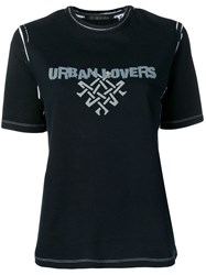 Mr And Mrs Italy Printed 'Urban Lovers' T Shirt 60