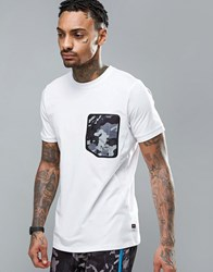 Ellesse T Shirt With Camo Pocket White