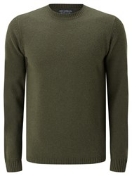 John Lewis And Co. Lambswool Crew Neck Jumper Khaki