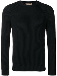 Nuur Ribbed Long Sleeve Sweater Black