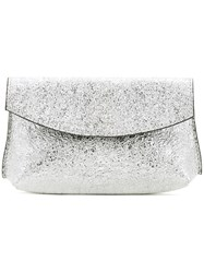 Golden Goose Deluxe Brand Clutch Bag Women Calf Leather One Size Metallic