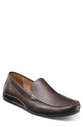 Florsheim Men's Oval Driving Shoe Brown Leather