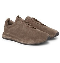 Officine Creative Race 17 Suede Sneakers Brown
