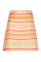 Almost Famous Jacquard Pencil Skirt Yellow