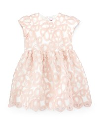 Il Gufo Short Sleeve A Line Overlay Dress Pink