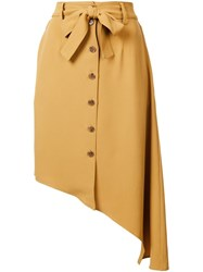 Tome Asymmetric Tie Skirt Yellow And Orange