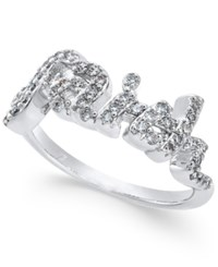 Joan Boyce Crystal Faith Ring White