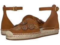 Coach Astor Ankle Strap Espadrille Saddle Shoes Brown