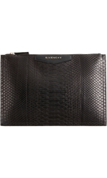 Givenchy Cosmetic Python Medium Clutch