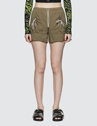 Ganni Light Ripstop Shorts Beige