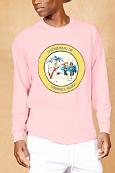 Forever 21 Bleach Honolulu Graphic Tee Light Pink