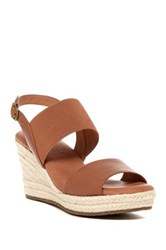 Gentle Souls By Kenneth Cole Kara Ankle Strap Platform Wedge Sandal Orange