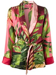 For Restless Sleepers Jungle Print Kimono Jacket Pink And Purple