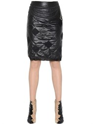 Maison Martin Margiela Quilted Nappa Leather Skirt With Chain