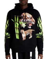Marcelo Burlon X Tyga Tiger Head Hoodie Black