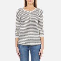 Maison Scotch Women's Home Alone Bonded Grandad Top With 3 4 Sleeve Combo B Multi