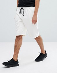 Mennace Jersey Shorts In White Off White