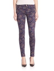 J Brand Mid Rise Super Skinny Jeans Eclipse Paisley