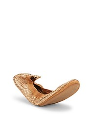 Yosi Samra Dress Embossed Slip On Ballet Flats Latte