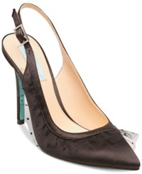 Blue By Betsey Johnson Mia Slingback Pumps Black