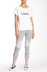 Abs By Allen Schwartz Contrast Stretch Terry Sweatpant Gray