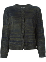 Erika Cavallini Semi Couture Striped Cardigan Blue