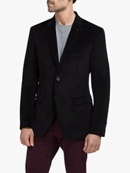 Eden Park Velour Slim Fit Blazer Black
